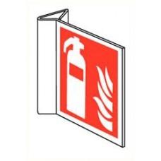 Pictogram brandblusser 200 x 200 mm bord haaks