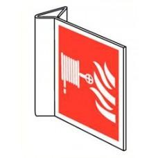 Pictogram haspel 200 x 200 mm bord haaks